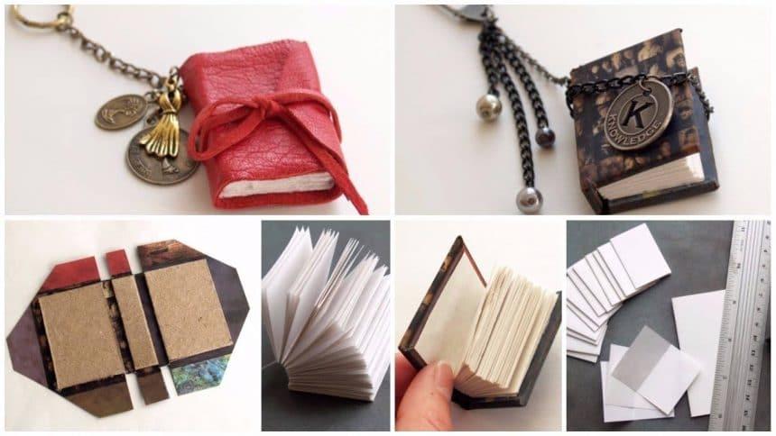 How to make a miniature hardcover book