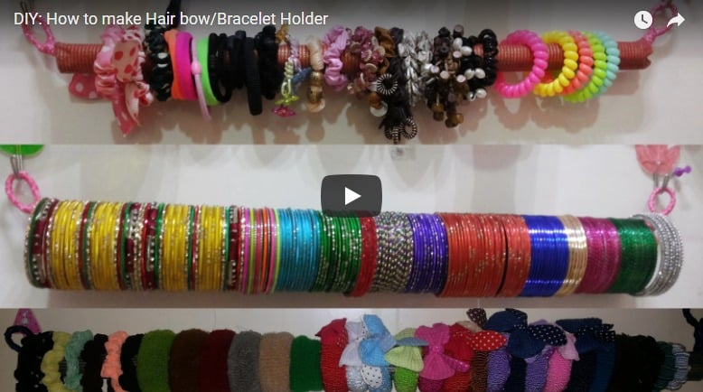 How to make hair bow and bracelet holder