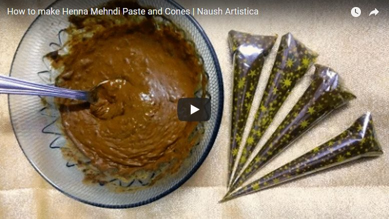 How to make henna mehndi paste and cones