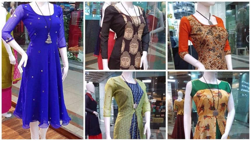 Simple yet stylish neck designs for kurtis