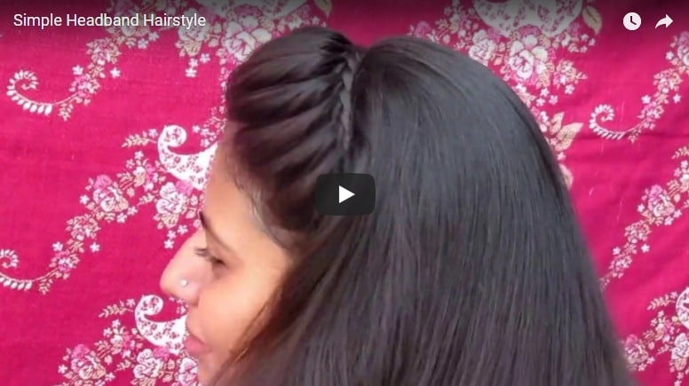 How to do simple headband hairstyle