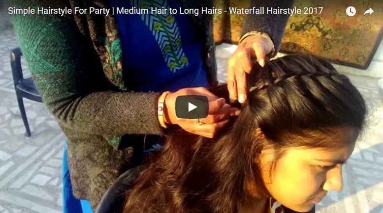 Simple hairstyle for party
