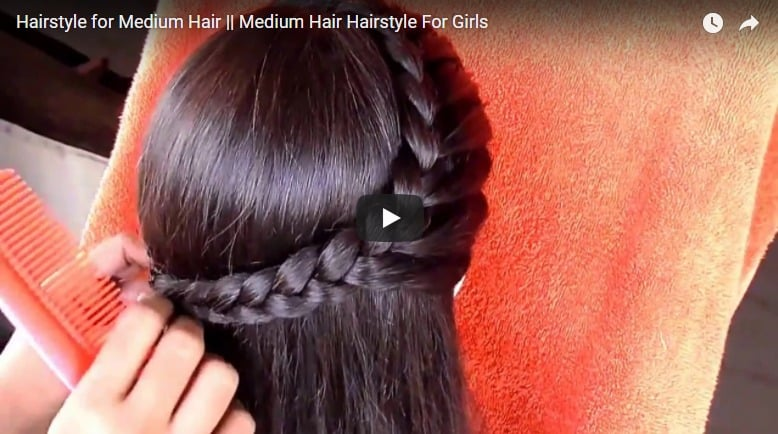 Hairstyle for medium hair - Simple Craft Ideas