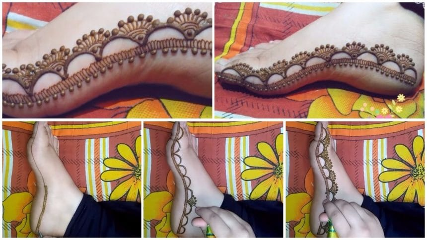 Special feet mehndi design tutorial