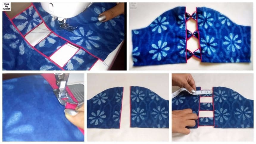Designer sleeves cutting and stitching