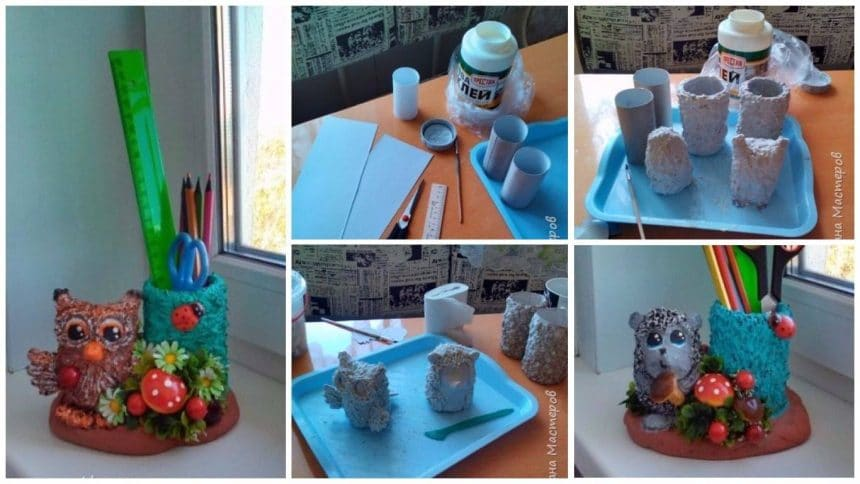 How to make a pencil holder from paper mache