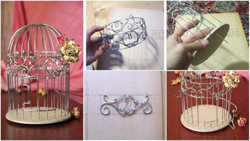 How to make a vintage cage out of the wire