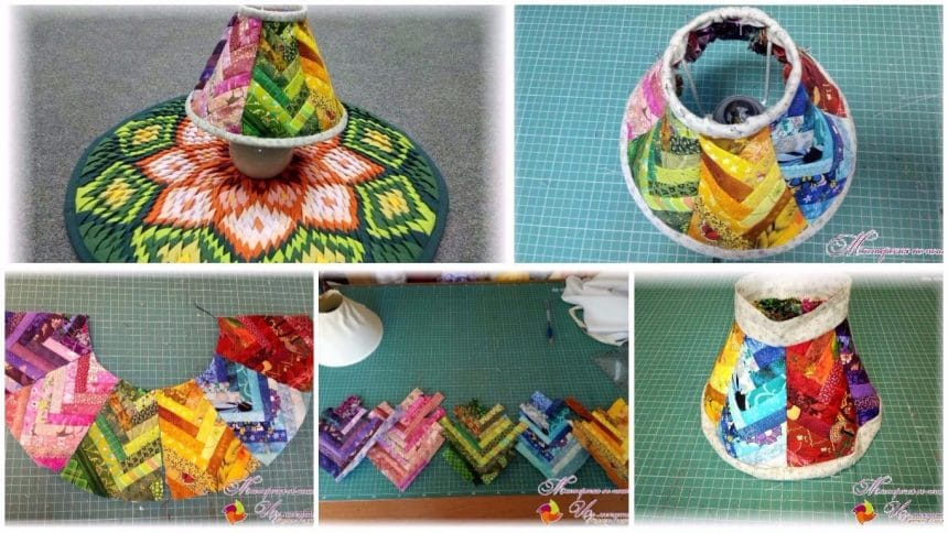 How to make a lampshade from patchwork technique