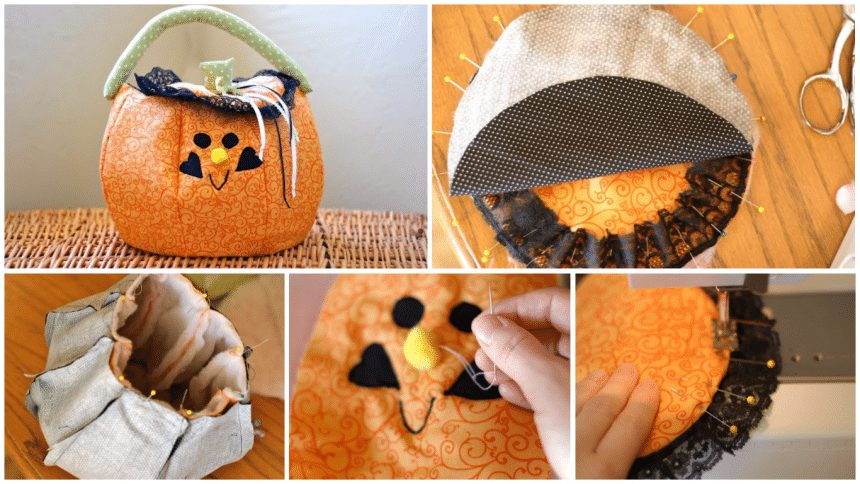 How to sew a pumpkin trick-or-treat bags
