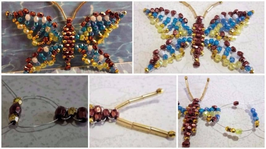 How to make butterfly from beads