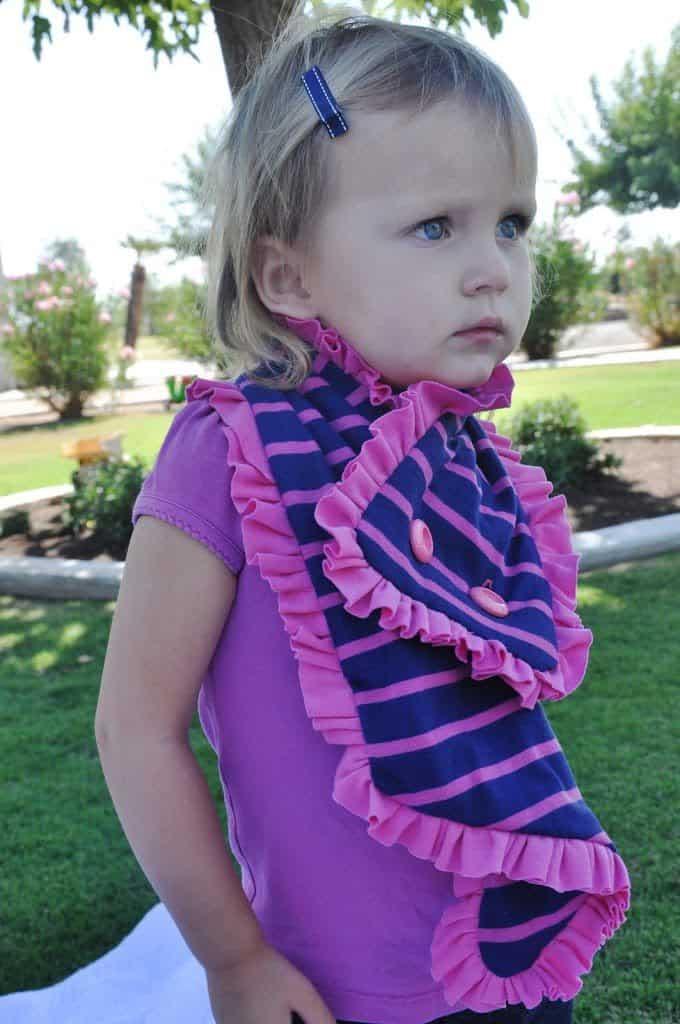 button ruffle scarf