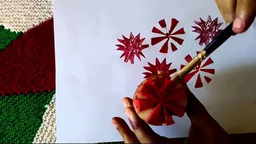How To Do Fabric Painting With Vegetables Simple Craft Ideas