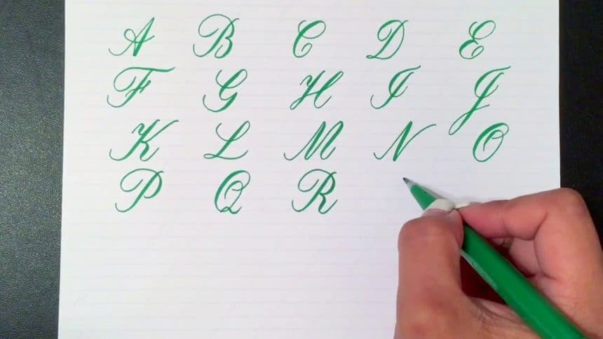 Writing the copperplate calligraphy alphabet simple craft ideas