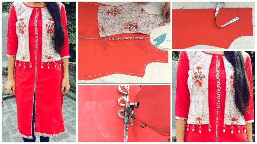 Trending jacket kurti cutting and stitching