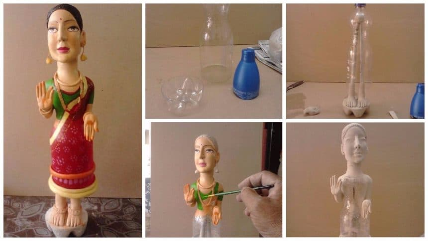 How to make dancing lady from clay art