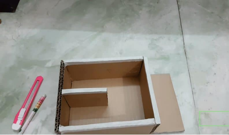 desk organizer from cardboard