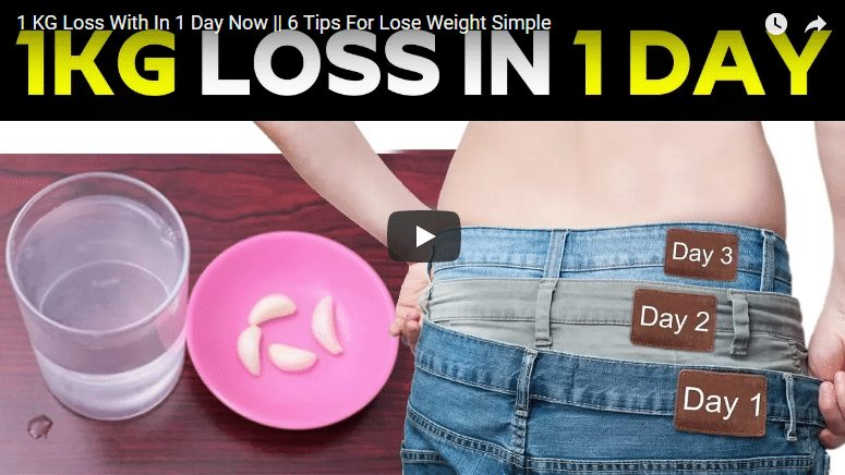 1 KG weight loss with in 1 day