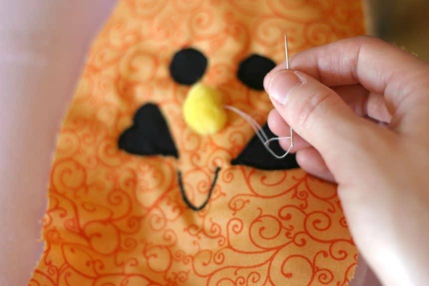 pumpkin trick-or-treat bags