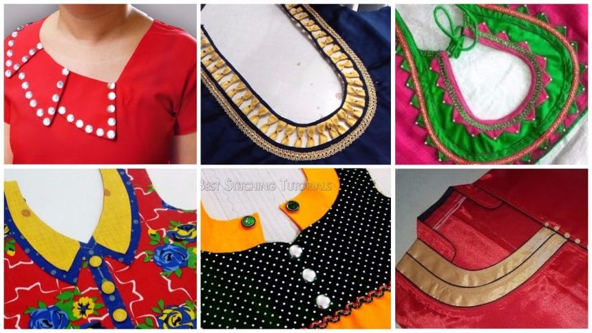 Kurta neck designs cutting and stitching | Simple Craft Ideas
