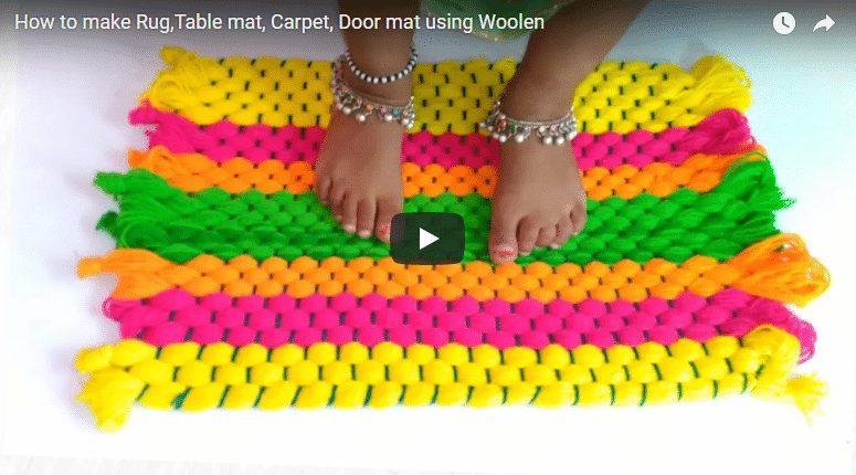 How to make door mat using woolen