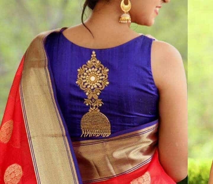 Jhumka Design Using Beads Embroidery For Kurtas Simple