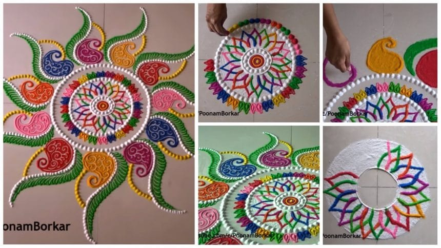 Diwali special multicolored rangoli design