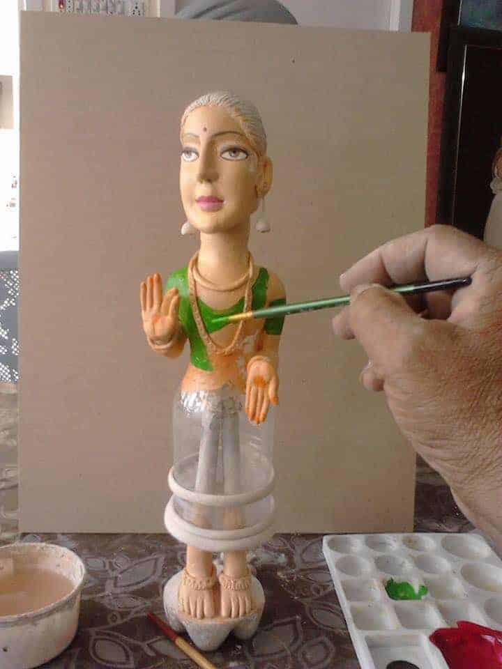 How To Make Dancing Lady From Clay Art Simple Craft Ideas