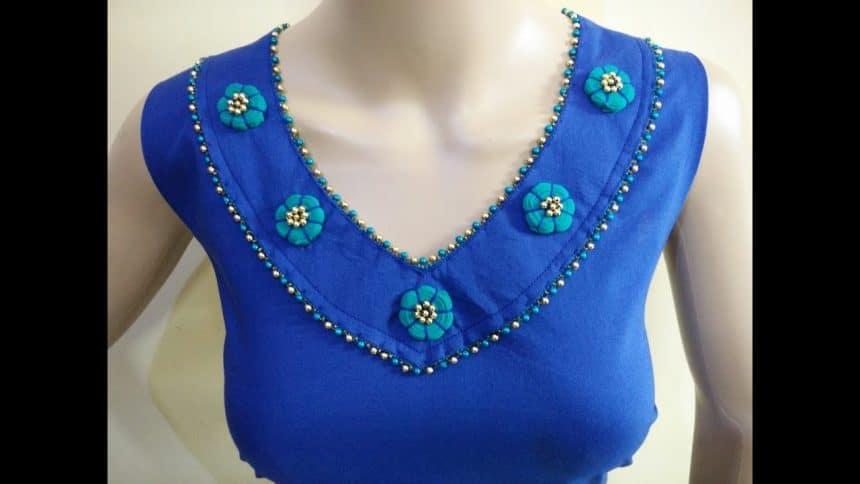 kurta neck design cutting and stitching