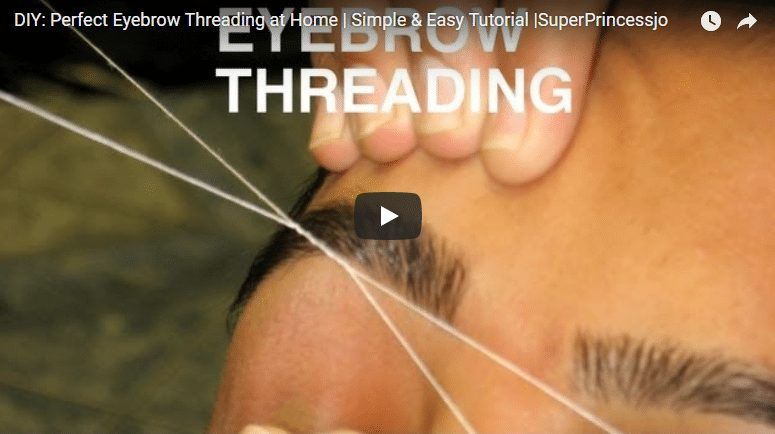 Perfect eyebrow threading at home