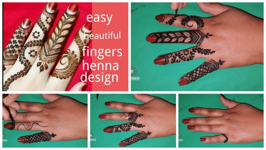How to make fingers mehndi design just easy steps
