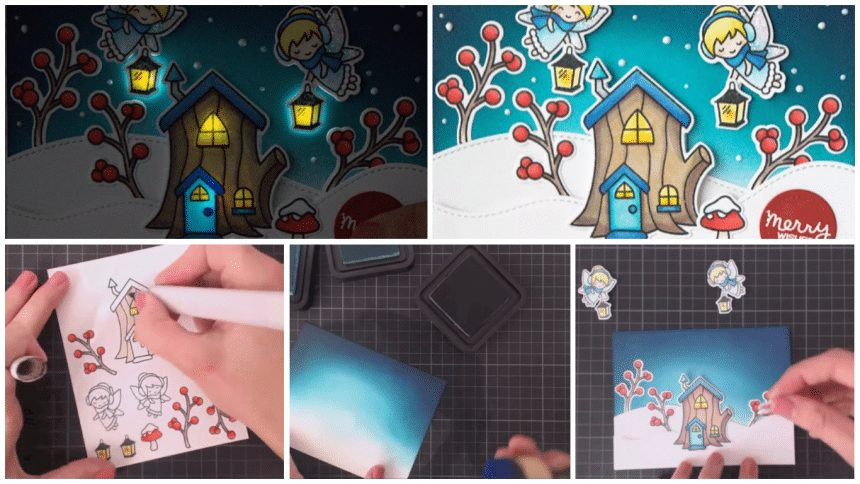 How to make a card that lights up