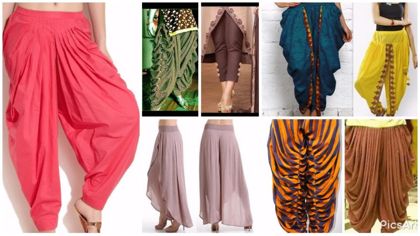 Different types of pant cutting and stitching