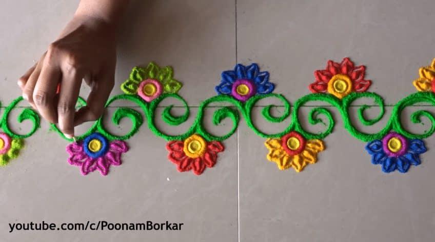 Diwali Special Easy Border Rangoli Designs Simple Craft Ideas