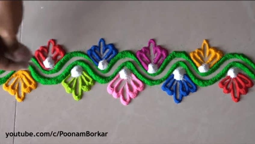 diwali special easy border rangoli designs