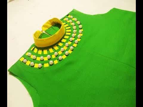 Kurta Neck Design Cutting And Stitching Simple Craft Ideas