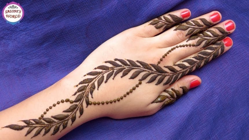 Mehndi Tattoo Peacock Feather : Simple arabic henna mehndi designs craft ideas