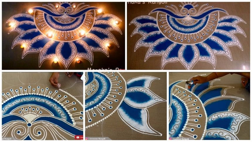 Beautiful door rangoli designs