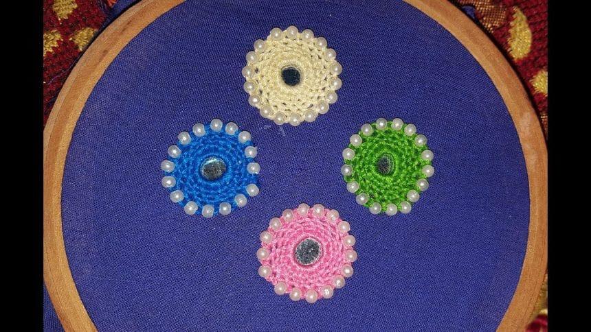 hand embroidery mirror work designs