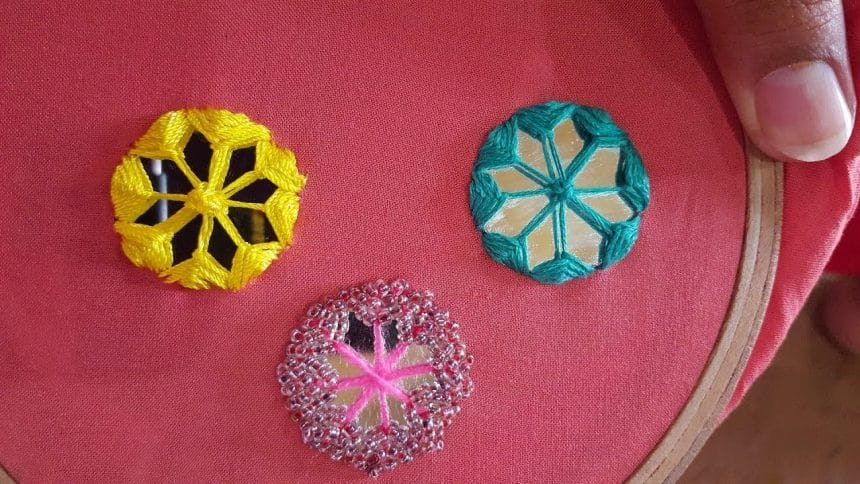 Hand Embroidery Mirror Work Designs Simple Craft Ideas