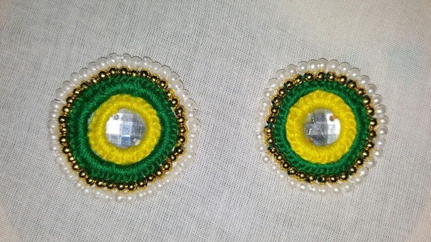 Hand embroidery mirror work designs - Simple Craft Ideas