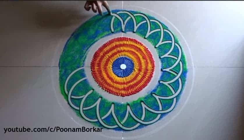 Easy Quick And Beautiful Rangoli Design Simple Craft Ideas