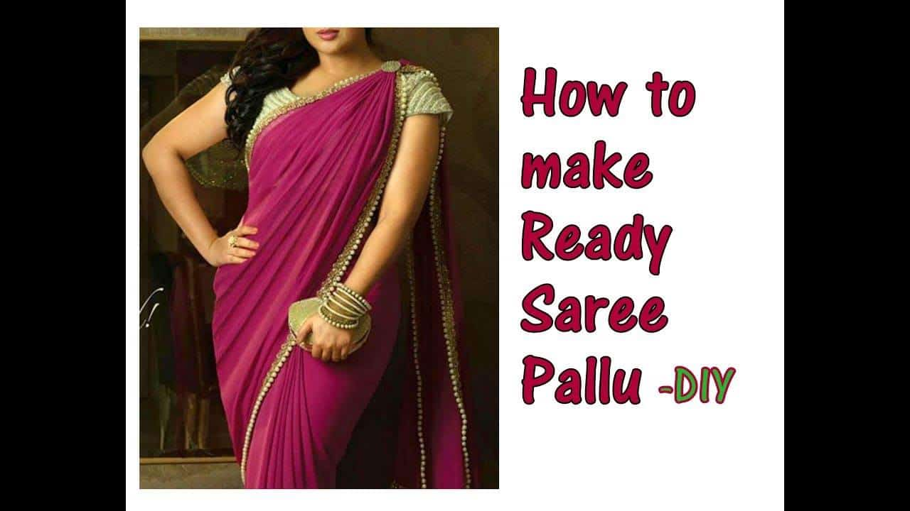 saree pallu in just 2 minute