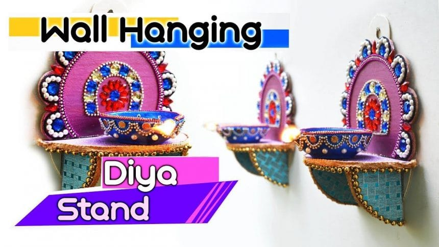 How to make wall hanging diya stand