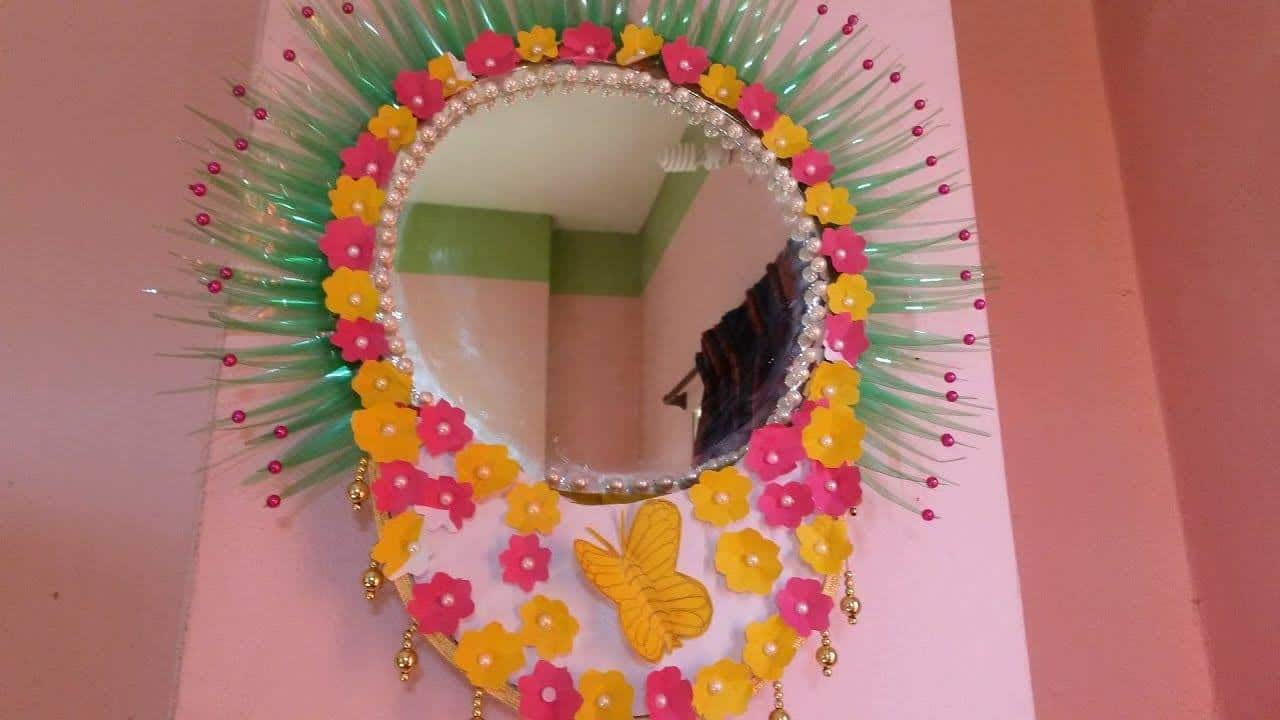 How To Make Wall Hanging With Mirror Frame Artsycraftsydad
