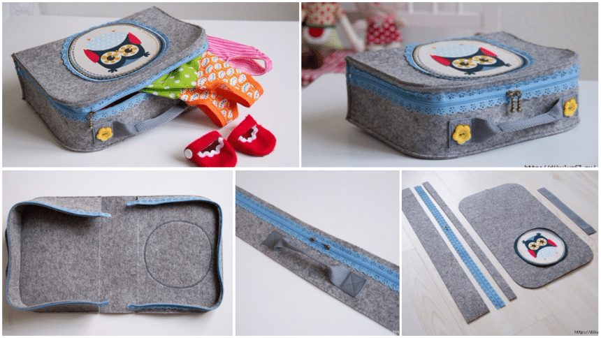 How to sew a children's suitcase for small things