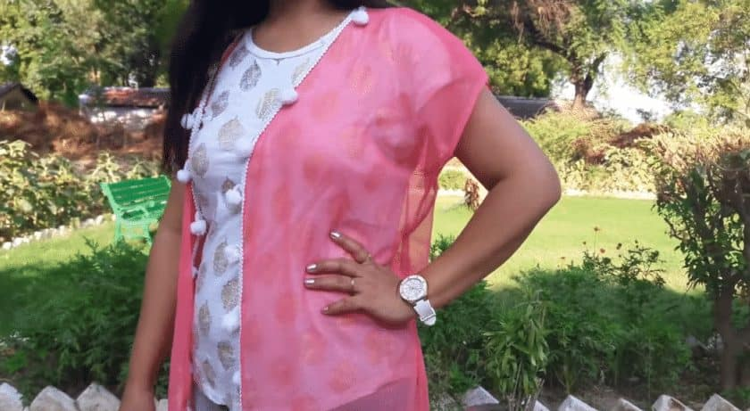 Recycle old dupatta into long shrug