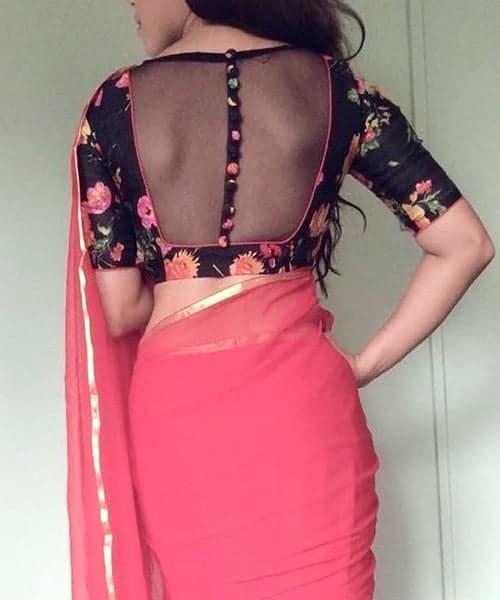 blouse back neck designs