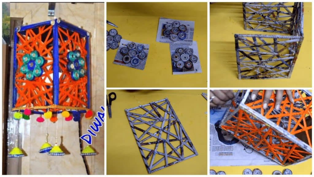 How to make lantern with newspaper