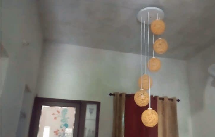 How To Make A Homemade Wrapped Balloon Lamp Simple Craft Ideas