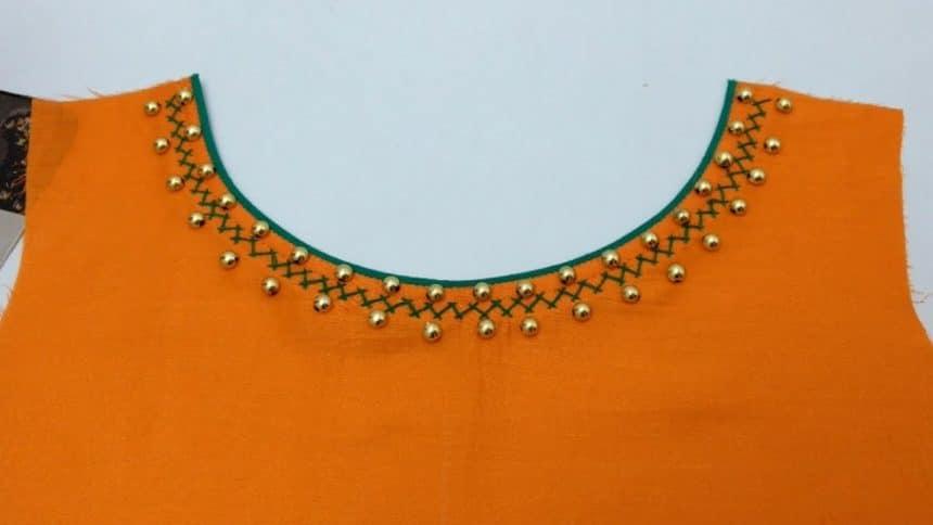 kurta neck designs cutting and stitching